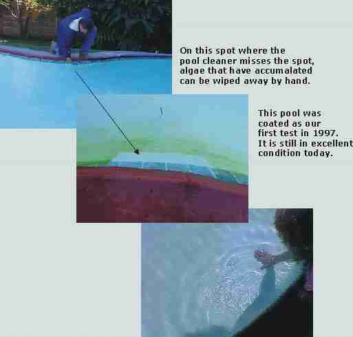Swimming pool paint resistant to algae, an original fiberglass pool